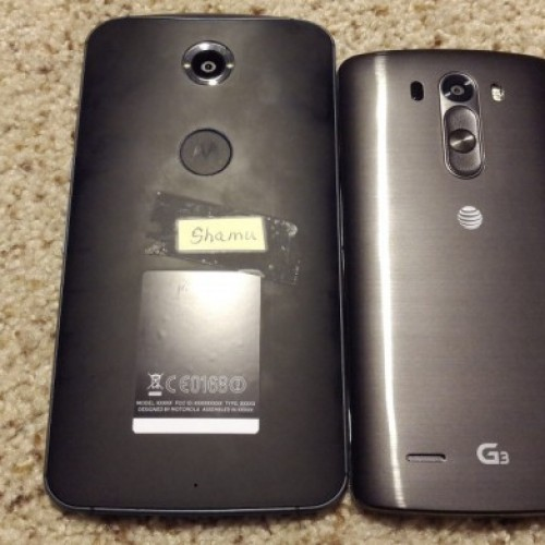 Rear of Motorola's Nexus phone leaked