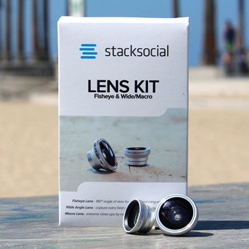 StackSocial Universal Lens Kit: 3 smartphone lenses for capturing impressive photos $24.99 [Deal of the Day]