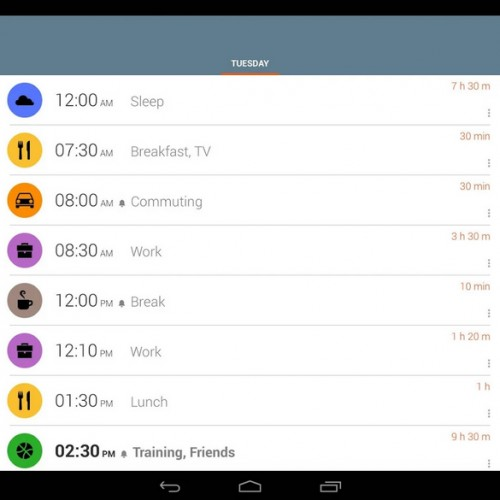 Use TimeTune to help organize your life