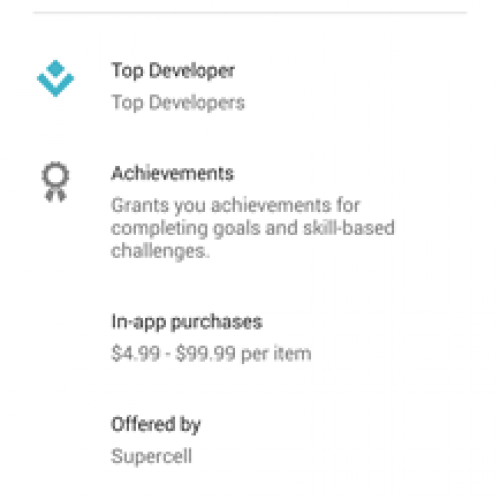 Google Play Store now shows in-app purchase prices and developers address