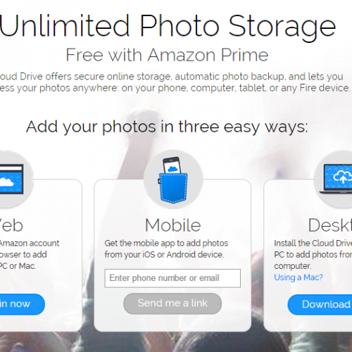 Amazon offering unlimited Cloud Drive storage for photos to all Prime members