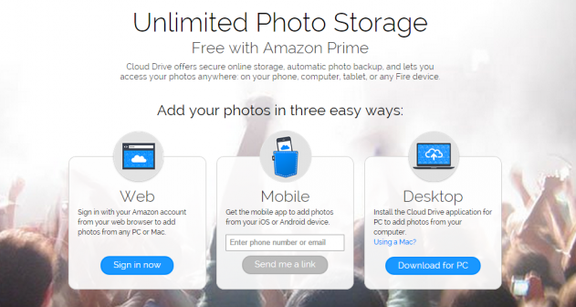 amazon offering unlimited cloud drive storage for photos. Black Bedroom Furniture Sets. Home Design Ideas