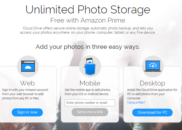 Amazon Cloud Drive   Prime Photos