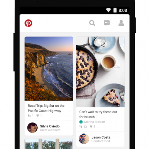 Pinterest update brings Material Design and faster performance to the Android app
