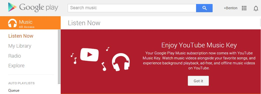 youtube musickey