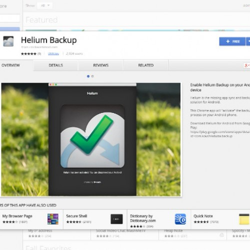 Backup and restore your Android apps via Chrome with Helium