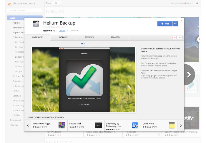 helium backup to sd card