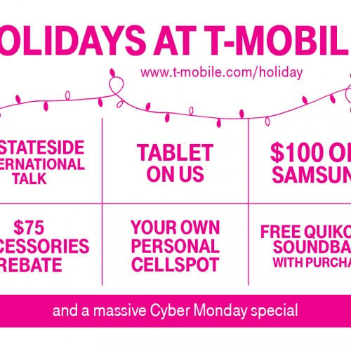 "T-Mobile offers up a variety of goodies for Black Friday; promises a ""massive"" Cyber Monday"