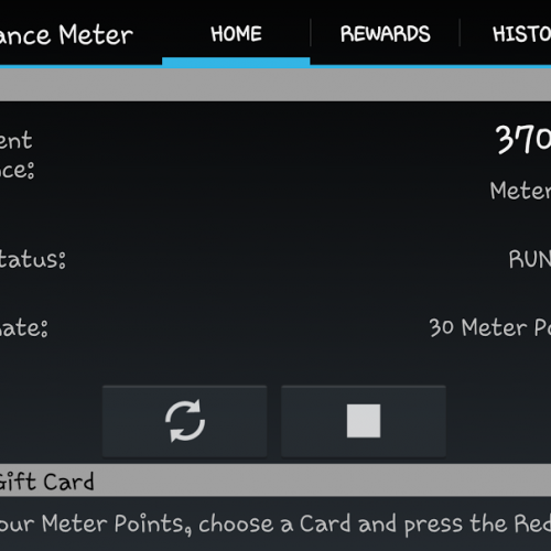 Share data usage stats with Mobile Performance Meter for free gift cards (review)