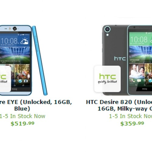 Expansys now offering unlocked HTC Desire Eye, Desire 820