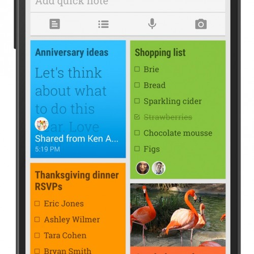 Google Keep gets shareable tasks and notes
