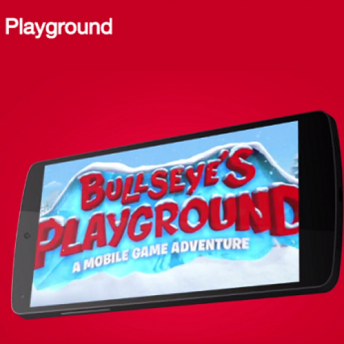 Target and Google have partnered up to bring some added fun to your shopping this holiday season with Bullseye's Playground.