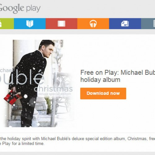 Get in the Holiday Spirit with a FREE Michael Buble album