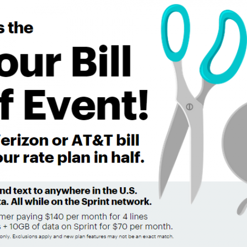 Sprint goes after Verizon, AT&T in new Half Price Event