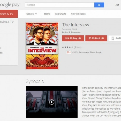 Google and Sony make The Interview available for streaming