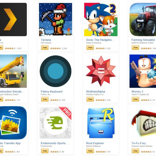 Get $220 in paid Android apps and games for free from Amazon!