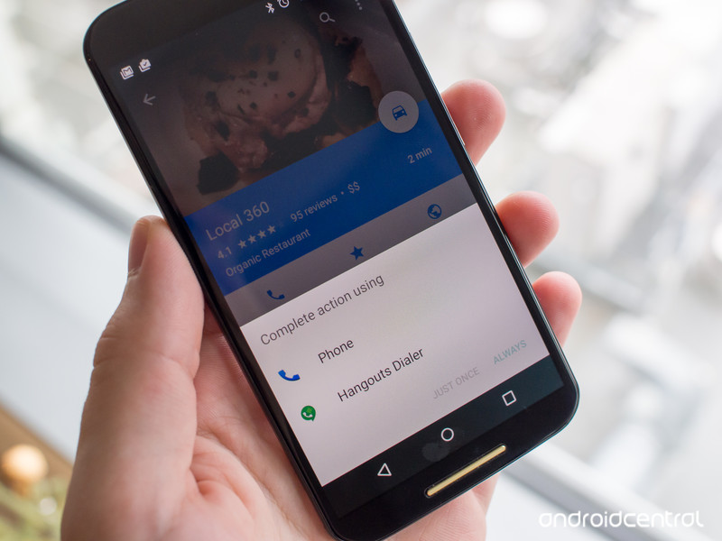 Hangouts Dialer on the Moto X