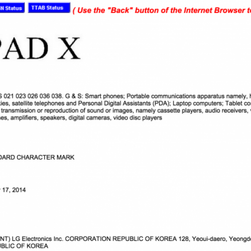 LG trademarks 'G Pad X' with USPTO, is it a high-end tablet?