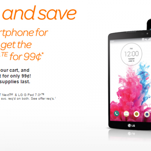 AT&T offers up 99¢ LG G Pad 7.0 with smartphone purchase