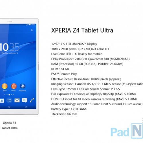 Sony Xperia Z4 Tablet Ultra is one beast of a device