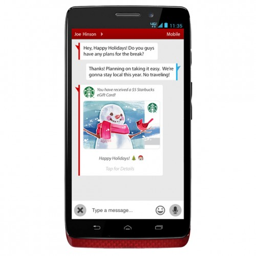 Verizon users can now send Starbucks eGift cards via text