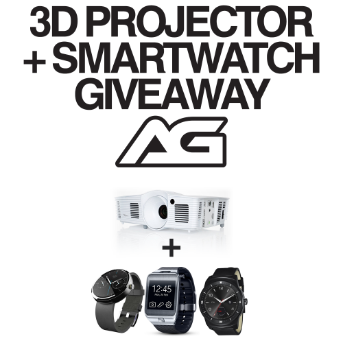 3D Projector + Smartwatch Giveaway