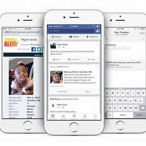 Facebook News feed will post AMBER Alerts