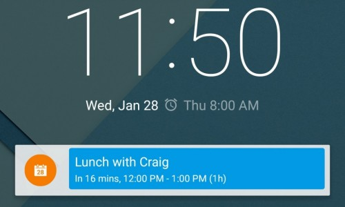 Calendar Notify review: a widget for your notifications