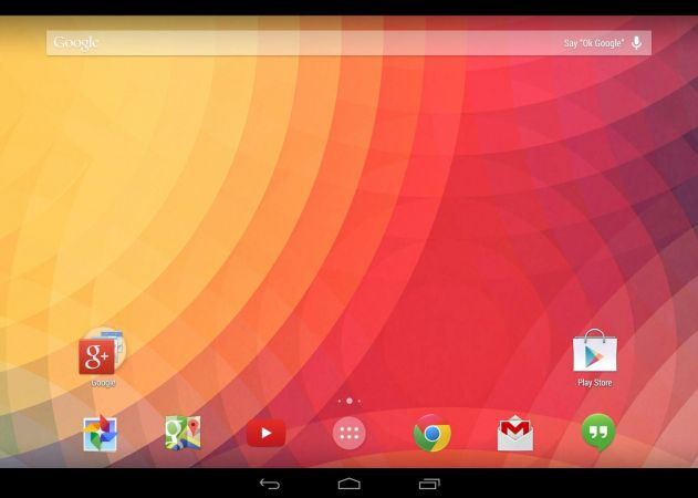 Google Now Launcher on the Nexus 10