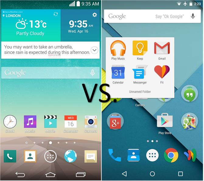 Optimus UI vs. Lollipop