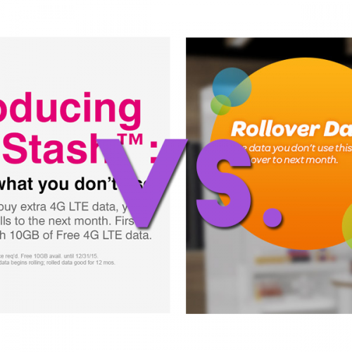 Key differences between T-Mobile Data Stash and AT&T Rollover Data
