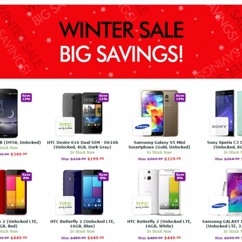 Expansys offers up big savings on unlocked Android devices in Winter Sale