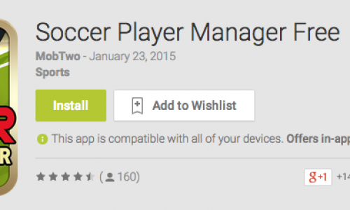 Soccer Player Manager Android app Review