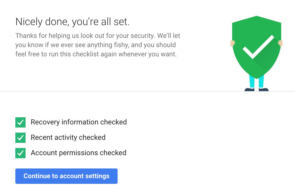 Google Drive Security Checkup