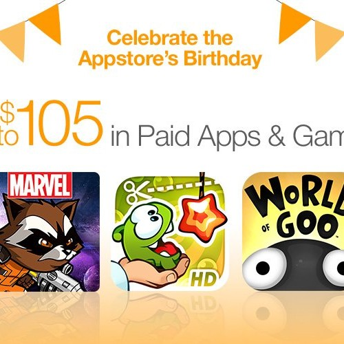 Amazon celebrates four years of Appstore with $105 in free apps and games
