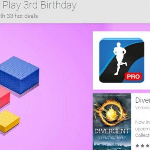 Google play store celebrates its 3rd birthday with 33 hot deals