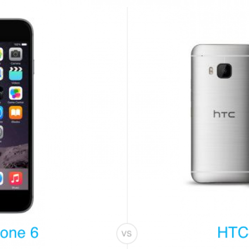 HTC One M9 versus iPhone 6
