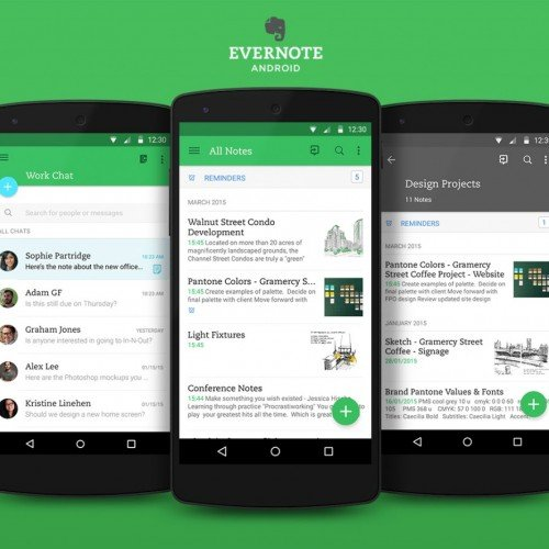 Evernote's Android app gets Material Design update