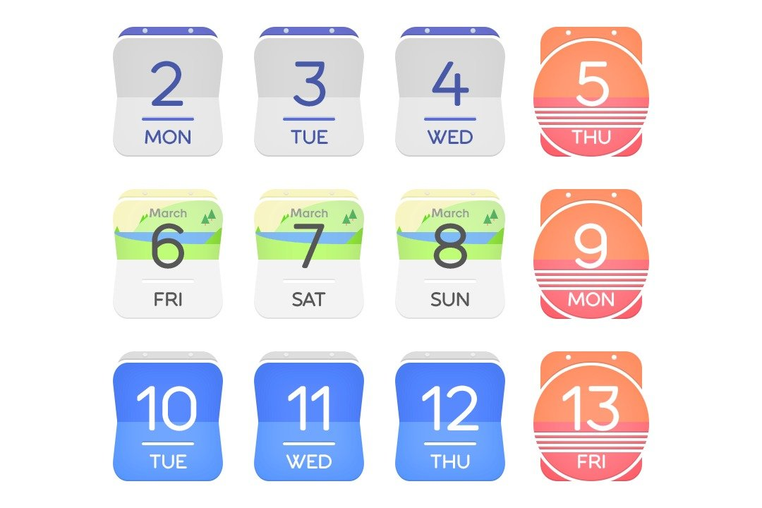 Calendar Icon Android : Get this look strip ui icon pack