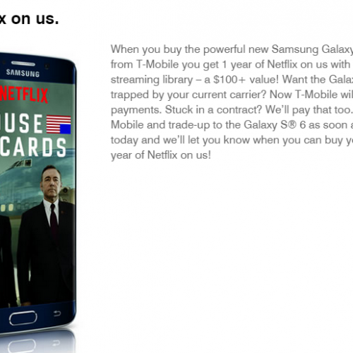 T-Mobile offers 1 year of free Netflix with Galaxy S6, S6 Edge