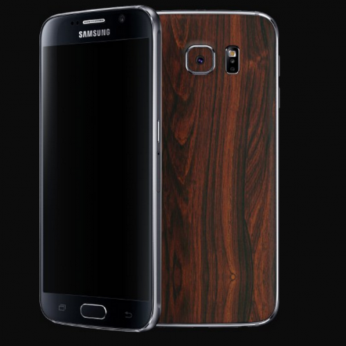 Check out dbrand's Galaxy S6 and One M9 skins including wood and leather