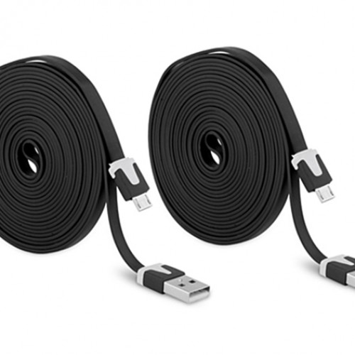 10ft. Micro USB Cable 2-Pack with International Shipping, $14.99