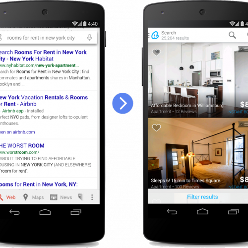 Google's new app indexing to now suggest apps in Google search