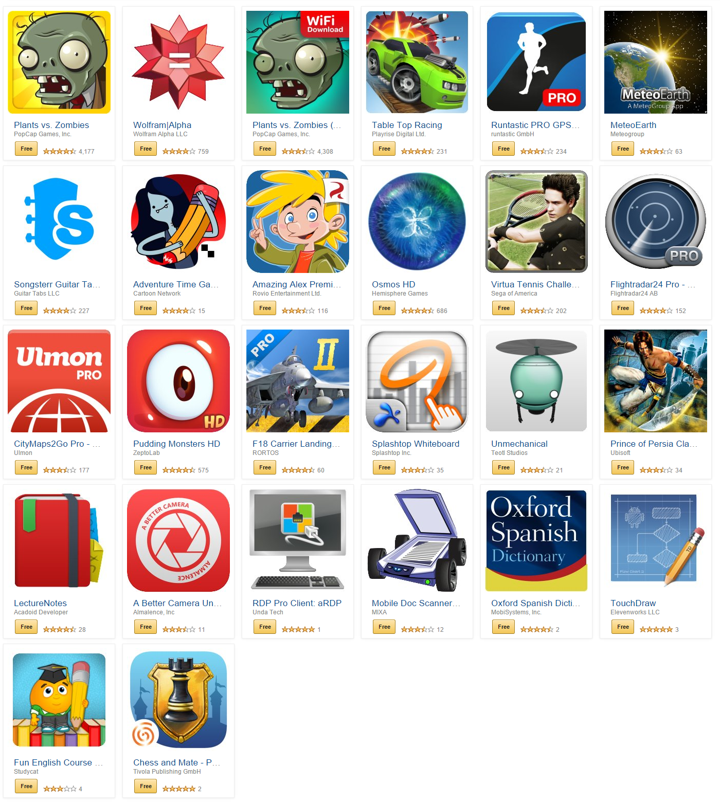 Amazon offering 26 paid apps and games for free today (April 16)