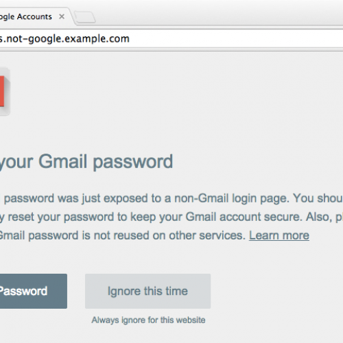 Google 'Password Alert' chrome extension further protects user identities