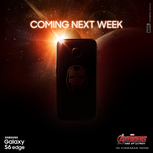 Iron Man edition of Galaxy S6 Edge due this week