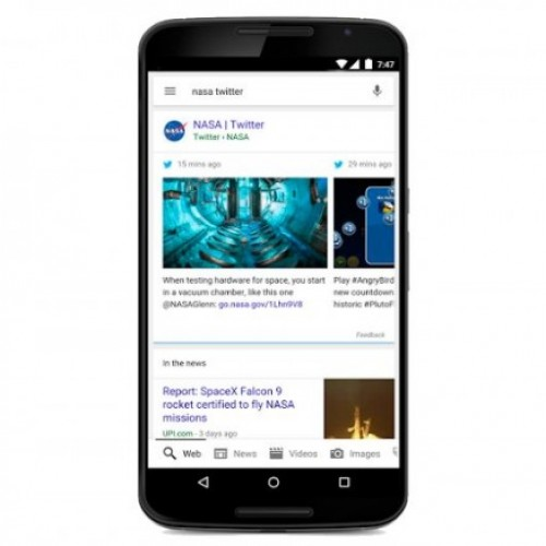 Now, tweets to feature in search results in Google app