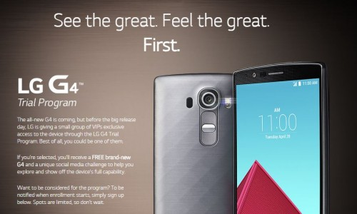 LG G4 trial program launches for the United States