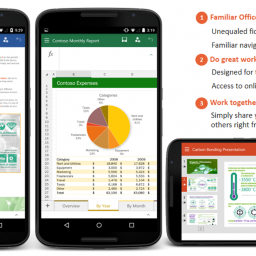 Microsoft Office for Android smartphones preview