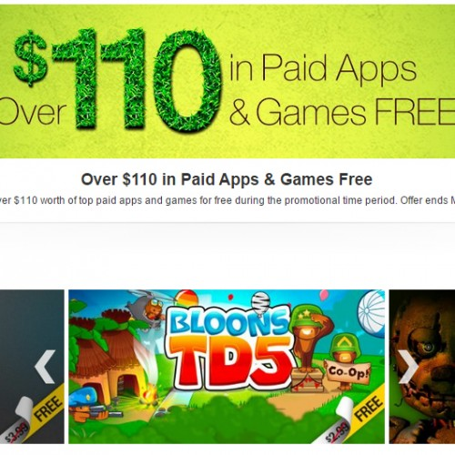 Amazon offering $110 in paid and games for free